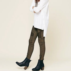 Free People Steamed Moto Skinny Jeans - Size 26